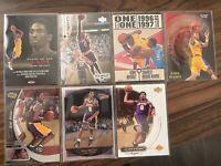Kobe Bryant 7 Card Lot Upper Deck Hoops Fleer Rookie Rewind