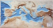 Mar Mediterraneo. Carta in Rilievo [124x64 Cm] [Senza Cornice] Global Map