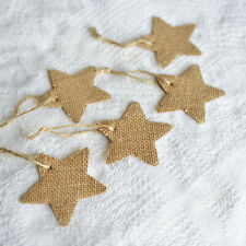 Christmas 2018 Gift Tags Luxury Hessian Star Gift Tags Twine Vintage Rustic x 5