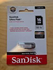 SANDISK Ultra Flair USB 3.0 Memory Stick - 16 GB, Silver & Black - Currys