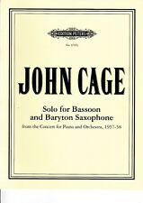 J.Cage: Solo for Bassoon & Baryton Saxophone from the Concert for Piano.