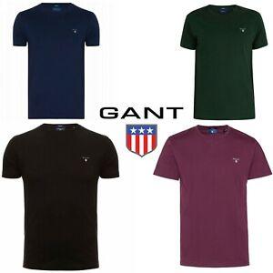Gant Men Crew neck Short Sleeve Cotton Jersey Logo T shirt Tee Top Soft Comfort