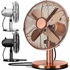 KESSER® Tischventilator Retro Ventilator Oszillierend Windmaschine leise Ø 30cm