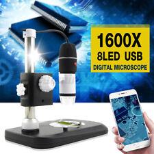 1600X HD 8 LED Digital Mikroskop Lupe Endoskopkamera Microscope