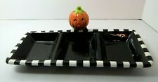 Hallmark Halloween Jack O Lantern Divided Dish Candy Appetizers