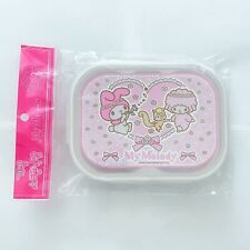 "My Melody 5 lots Metal Lunch Box With Zipper Bag~ Size 9.5""x7.5""x1.5""~"