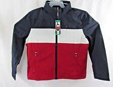 Tommy Hilfiger Mens Windbreaker Jacket Color Block Spell...