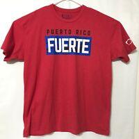 Bill Maddon KORKED Puero Rico Fuerte XL t-shirt - Cubs - flag - glasses