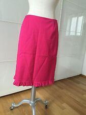 Betty Barclay Rock Pink gerüschter Saum Gr 38 Glänzend Stretch 1A Zustand