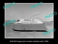 OLD 8x6 HISTORIC PHOTO OF SHELL OIL COMPANY AVIATION FUEL TANKER c1940