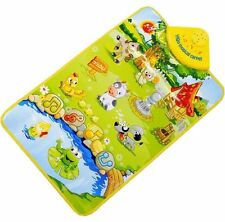 Farm Animal Musical Music Touch Play Singing Gym Carpet Mat Toy Gift