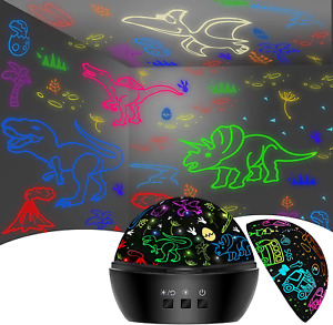 Night Light For Kids, Dinosaurs Cars Toys For Kids Projector Lamp For Bedroom,16