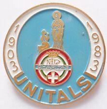 Insigne Religieux ITALIE PELERINAGE LOURDES UNITALS 1903/1983 CATHOLIC BADGE