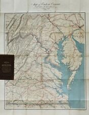 Antique Map of Eastern Virginia, by Walter L. Nicholson, Civil War Era Map, 1862