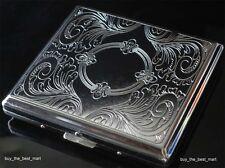 Metal Cigarette Case Box Holder Holds 20 Cigarettes Silver Ship from UK