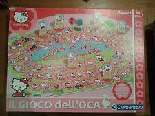 HELLO KITTY gioco dell'oca SANRIO 2010 CLEMENTONI anni 6+ giocatori 2-6 COMPLETO