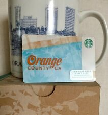 NEW ORANGE COUNTY ARCHITECTURAL STARBUCKS COFFEE MUG GIFT CARD FREE SHIPPING