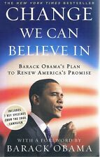 Change We Can Believe In by Obama Barack - Book - Paperback - History - Americas
