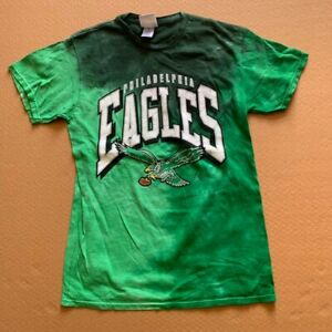 NFL PHILADELPHIA EAGLES men's  t-shirt, green tie dye, SMALL, New w/defect