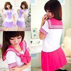 Japanese School Uniform Dress Cosplay Costume Anime Girl Lady Lolita