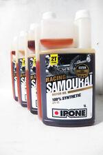 Lote Aceite Mezcla Ipone Somourai Samurai Racing Sintetico 100% 2T Motor Oil 4L