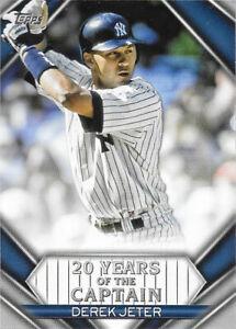 2020 Topps Update 20 Years of the Captain #YOC-98 Derek Jeter - NY Yankees