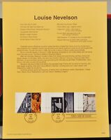 Scott # 3383a - US Souvenir Sheet - Louise Nevelson - MNH - 2000