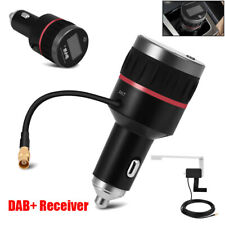 Car DAB DAB+ Receiver Tuner FM Transmitter Adapter USB Charger+Antenna