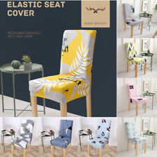 Kitchen Floral Chair Cover Dining Seat Covers Restaurant Slipcover Wedding Decor