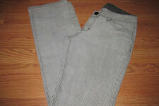 STRIPED Gray/Black Jeans~Junior Size 11~Straight Leg~Stretch~GUC