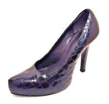 Gianni Bini Black Reptile Pointy Toe Patent Leather Pumps Shoe Size 8