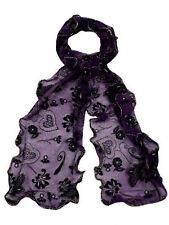Ladies 91164 Oriental purple heart scarf By Unbranded £ 4.99