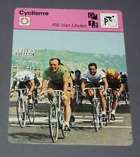 FICHE CYCLISME RIK VAN LINDEN BELGIQUE BELGIË TOUR FRANCE WIELRIJDER CICLISMO