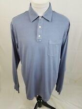 VINEYARD VINES Gray L/S Whale Logo Pocket Polo Shirt Mens Medium