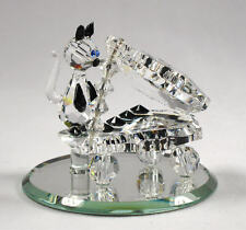 Crystal Cat Playing The Piano Handcrafted Using Swarovski Crystals