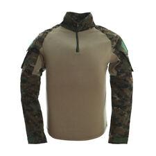 TACVASEN Tactical Breathable Combat Army Long Shirts Military Camouflage T-shirt 5xl ( UK Size 2xl) ATACS FG