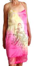 NEW ED HARDY CHRISTIAN AUDIGIER WOMEN DRESS SILK M 6 10  $400 PINK RHINESTONES