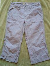 EUC Women's Mountain Hardwear Organic Cotton Cropped Roll up Pants Size 8 Gray