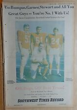 1969 full page newspaper ad for Arkansas Razorbacks - Bumpas, Garner, Stewart