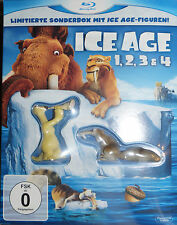 Ice Age 1 2 3 4 inkl. Ice Age Figuren, Sid, 4 Blu Ray Limited Box Set, NEU & OVP