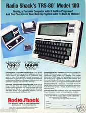1983 Print Ad of Radio Shack TRS-80 Model 100 Portable Computer