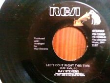 """RAY STEVENS 45 RPM """"Night Games"""" & """"Let's Do It Right This Time"""" VG+ condition"""