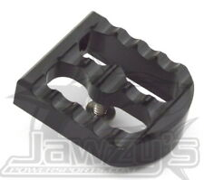 Serrated Brake Pedal Cover   Black Anodized Joker Machine 08-58-1