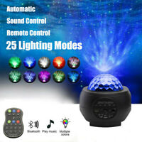 US Blueteeth LED Galaxy Projector Starry Night Lamp Star Projection Night Light