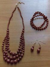Women's Fashion Jewelery Necklace Earrings Bracelet Set