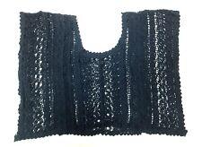 RUE21 Women's Top Shirt Sleeveless Knit Top Blue Crochet Small FREE SHIPPING A36
