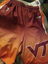 "Fit 2 Win Virginia Tech Hokies Vt Lacrosse Basketball 8"" Shorts Men's L New"