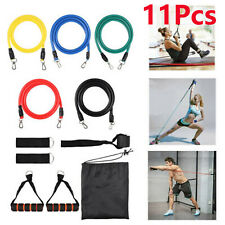 11 Resistance Loop Bands Set Strength Fitness Gym Exercise Yoga Workout Pull Up