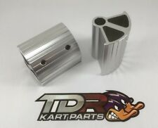 GO KART - PEDAL EXTENSIONS - ANODISED SILVER COLOUR