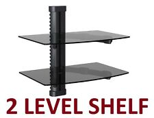 2 LAYER SHELF ROGERS SHAW BELL Cable Box HD PS4 WII APPLE TV WALL MOUNT BRACKET